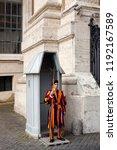 vatican city  italy  may 8 ... | Shutterstock . vector #1192167589