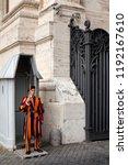 vatican city  italy  may 8 ...   Shutterstock . vector #1192167610
