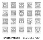 fireplace thin line icon set.... | Shutterstock .eps vector #1192167730