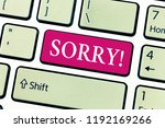 writing note showing sorry.... | Shutterstock . vector #1192169266