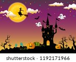 halloween evening background... | Shutterstock .eps vector #1192171966
