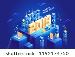 2019 happy new year. new... | Shutterstock .eps vector #1192174750