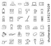 household appliances line icon...   Shutterstock .eps vector #1192179109