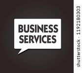 text sign showing business... | Shutterstock . vector #1192180303