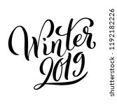 hello winter 2019 poster with... | Shutterstock . vector #1192182226