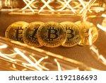 btc among avid bulbs. the light ... | Shutterstock . vector #1192186693