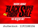 black friday super sale vector... | Shutterstock .eps vector #1192188106
