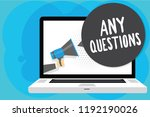 text sign showing any questions.... | Shutterstock . vector #1192190026