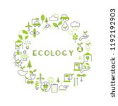 background with ecology icons.... | Shutterstock .eps vector #1192192903