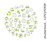 background with ecology icons.... | Shutterstock .eps vector #1192192909