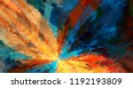 modern art. colorful... | Shutterstock . vector #1192193809