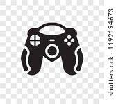 game controller vector icon... | Shutterstock .eps vector #1192194673