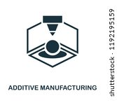 additive manufacturing icon.... | Shutterstock .eps vector #1192195159