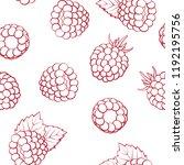 seamless pattern   outline ripe ... | Shutterstock .eps vector #1192195756