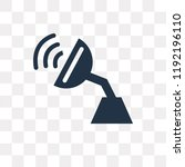 antenna vector icon isolated on ... | Shutterstock .eps vector #1192196110