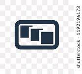 depth perception vector icon... | Shutterstock .eps vector #1192196173
