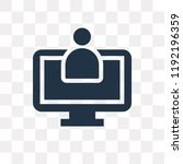 assistant vector icon isolated... | Shutterstock .eps vector #1192196359
