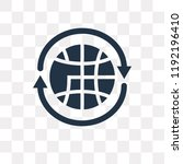 360 degree vector icon isolated ... | Shutterstock .eps vector #1192196410