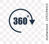 360 degree vector icon isolated ... | Shutterstock .eps vector #1192196413