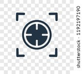 focus vector icon isolated on...   Shutterstock .eps vector #1192197190