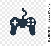 joystick vector icon isolated...   Shutterstock .eps vector #1192197346