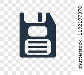 floppy disk vector icon... | Shutterstock .eps vector #1192197370