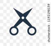 manicure scissors vector icon...   Shutterstock .eps vector #1192198159