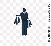 shopper man vector icon...   Shutterstock .eps vector #1192201360