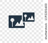 photograph vector icon isolated ... | Shutterstock .eps vector #1192201603