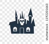 creepy castle vector icon... | Shutterstock .eps vector #1192201663
