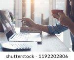 cropped  smart asian business... | Shutterstock . vector #1192202806
