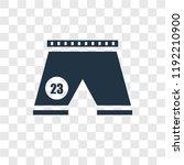football shorts vector icon... | Shutterstock .eps vector #1192210900