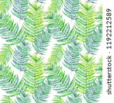 hand drawn watercolor seamless... | Shutterstock . vector #1192212589