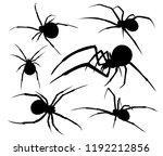 spider venomous silhouette... | Shutterstock .eps vector #1192212856