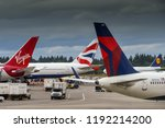 seattle tacoma airport  wa  usa ... | Shutterstock . vector #1192214200