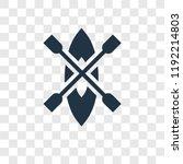 kayak vector icon isolated on...   Shutterstock .eps vector #1192214803