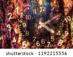 force of time and ancient... | Shutterstock . vector #1192215556