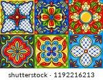 mexican talavera ceramic tile... | Shutterstock .eps vector #1192216213