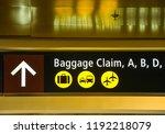 seattle tacoma airport  wa  usa ... | Shutterstock . vector #1192218079