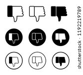 thumbs down vector icon ... | Shutterstock .eps vector #1192219789