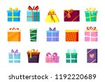 gifts boxes. colored xmas... | Shutterstock .eps vector #1192220689