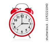 red alarm clock   vector... | Shutterstock .eps vector #1192221040