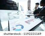 closeup.financial charts on the ... | Shutterstock . vector #1192221169