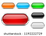 glass buttons with chrome frame.... | Shutterstock . vector #1192222729