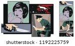 stock illustration. people in... | Shutterstock .eps vector #1192225759