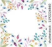watercolor floral arrangements... | Shutterstock . vector #1192226860