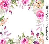 watercolor floral arrangements...   Shutterstock . vector #1192226863