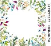 watercolor floral arrangements... | Shutterstock . vector #1192226869