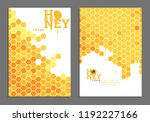 sweet bright golden honey cover ... | Shutterstock .eps vector #1192227166