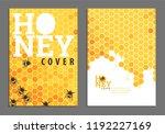 sweet bright golden honey cover ... | Shutterstock .eps vector #1192227169